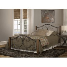 Destin King Bed With Frame - Brushed Oak