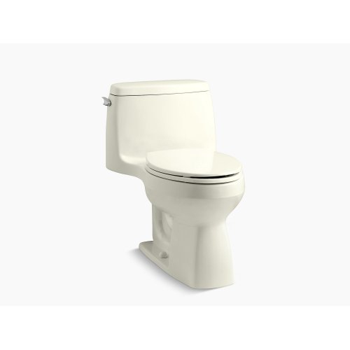 Biscuit Comfort Height One-piece Compact Elongated 1.28 Gpf Toilet With Aquapiston Flushing Technology and Left-hand Trip Lever