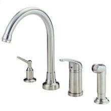 Chrome Melrose® Single Handle High-Rise Kitchen Faucet