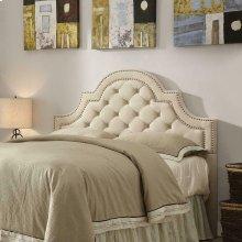 Ojai Traditional Beige Upholstered Queen Headboard