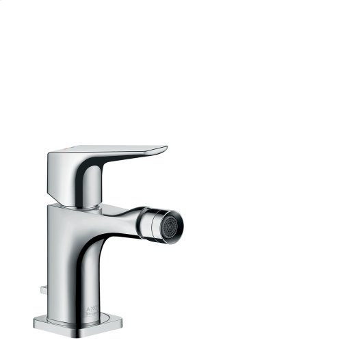 Brushed Gold Optic Single lever bidet mixer with lever handle and pop-up waste set