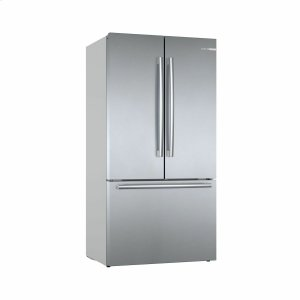 BOSCH800 Series French Door Bottom Mount Refrigerator 36'' Easy clean stainless steel B36CT80SNS