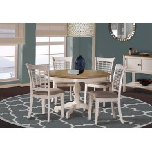 Bayberry 5pc Round Dining Set - White