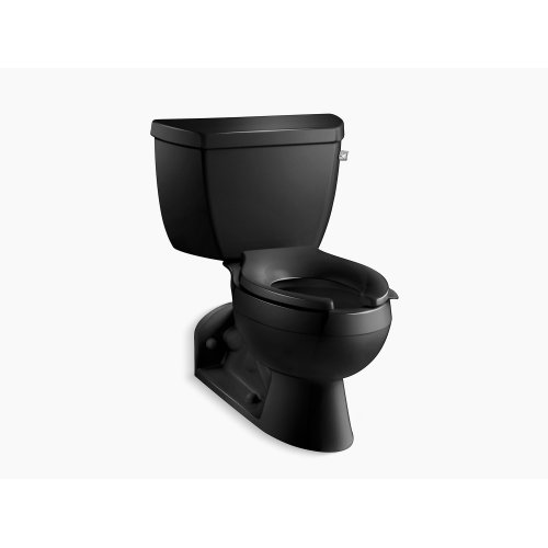 Black Black Two-piece Elongated 1.0 Gpm Toilet With Pressure Lite Flushing Technology and Right-hand Trip Lever