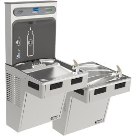Elkay EZH2O Bottle Filling Station with Bi-Level ADA Cooler, Non-Filtered 8 GPH Stainless