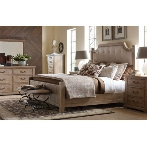 LEGACY CLASSIC FURNITUREMonteverdi by Rachael Ray Complete Upholstered Low Post Bed, Queen 5/0