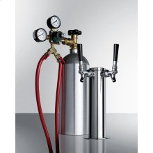 """Dual Tap System With Nitrogen Tank To Serve Cold Brew """"flat"""" Iced Coffee From Most Beer Dispensers"""