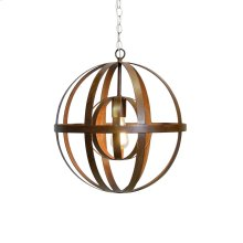 Iron Sphere Oxidized Chandelier Ul Approved for One 60 Watt Bulb 3' Matching Chain Included. Additional Chain May Be Purchased Upon Request.