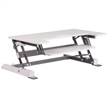 36.25''W White Sit / Stand Height Adjustable Desk with Height Lock Feature and Keyboard Tray