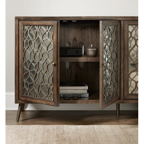 Home Entertainment Mixed Metals Entertainment Console