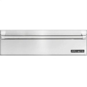 "American Range36"" Fully Intergrated Stainless Steel Warming Drawer. Shown With Custom Wood Panel and ARWDH-36 Handle."