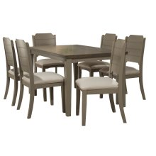 Clarion 7-piece Rectangle Dining Set With Dining Chairs