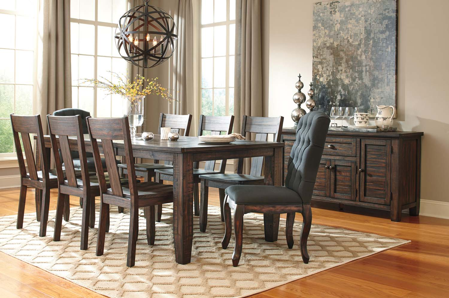 Trudell   Dark Brown Set Of 2 Dining Room Chairs