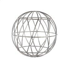 Silver Leaf Geometric 9 Inch Sphere.