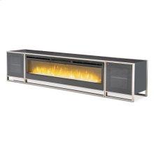 Fireplace TV Console W/firebox Insert 110v (4 Pc)