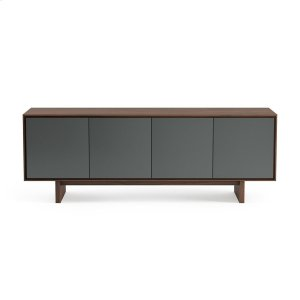 Quad Width Media Cabinet 8379 Gfl in Toasted Walnut -