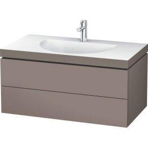 Furniture Washbasin C-bonded With Vanity Wall-mounted, Basalt Matt (decor)