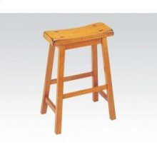 "Oak 24"" Solid Wood Stool"