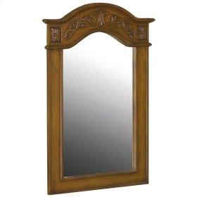 Belle Foret 36 in. x 24 in. Framed Vanity Mirror in Pecan