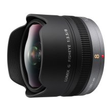 LUMIX G Fisheye Lens, 8mm, F3.5, Micro Four Thirds - H-F008