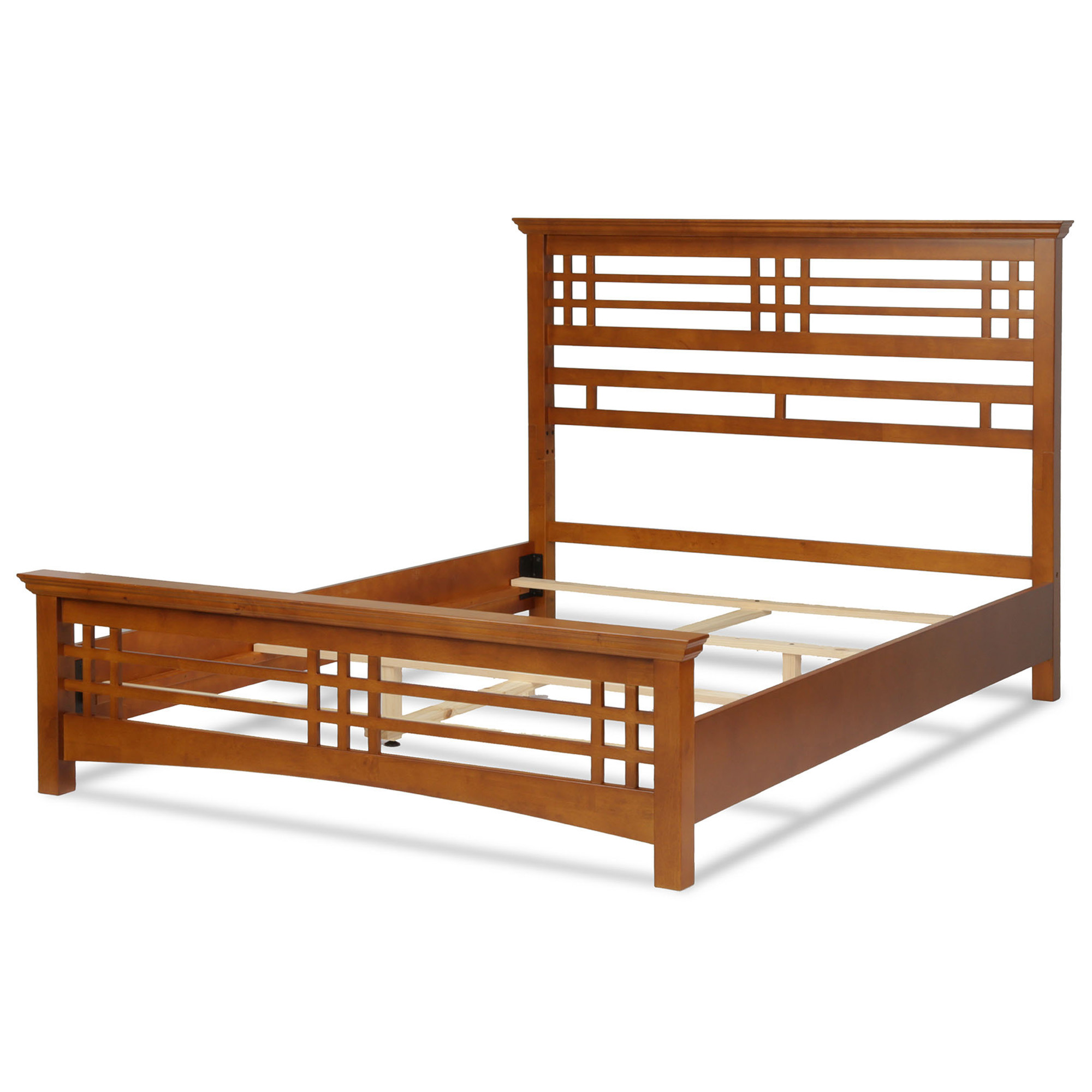 B51a96fashion Bed Group Avery Complete Wood Bed And Bedding Support