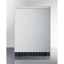 Built-in Undercounter All-refrigerator for Residential or Commercial Use, Frost-free W/stainless Steel Wrapped Exterior and Horizontal Handle