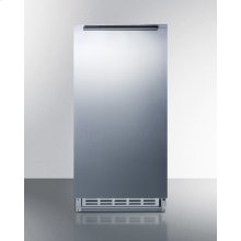 Built-in Undercounter ADA Compliant Manual Defrost Icemaker With Complete Stainless Steel Wrapped Exterior Finish; No Drain Required