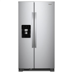 Whirlpool36-inch Wide Side-by-Side Refrigerator - 24 cu. ft. Monochromatic Stainless Steel