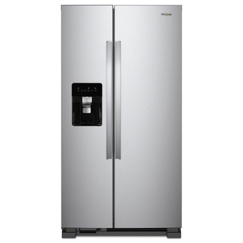 36-inch Wide Side-by-Side Refrigerator - 24 cu. ft. Monochromatic Stainless Steel