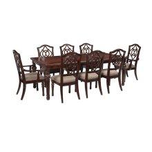Leahlyn - Reddish Brown 9 Piece Dining Room Set