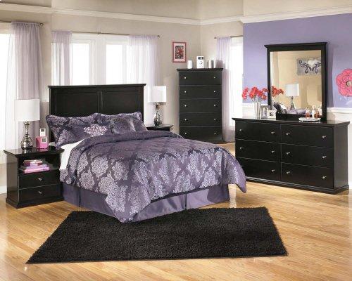 Maribel - Black 2 Piece Bedroom Set