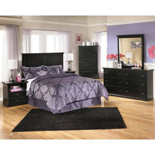 Maribel - Black 2 Piece Bedroom Set