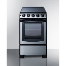 """20"""" Wide Slide-in Look Smooth-top Electric Range In Stainless Steel With Oven Window; Replaces Rex207ss/rt"""