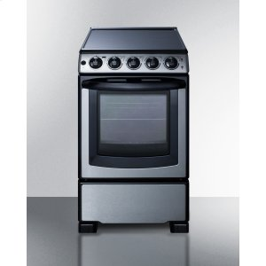 "Summit20"" Wide Slide-in Look Smooth-top Electric Range In Stainless Steel With Oven Window; Replaces Rex207ss/rt"