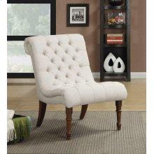 Traditional Oatmeal Slipper Chair