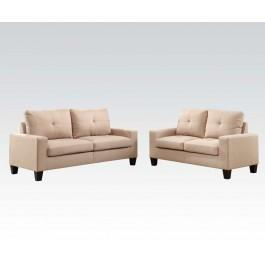 Superbe Platinum Iibeige Sofa/loveseat