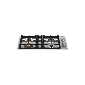 Bertazzoni30 Drop-in Gas Cooktop 4 brass burners Stainless Steel