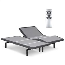 Falcon 2.0+ Low-Profile Adjustable Bed Base with Simultaneous Movement and Under-Bed Lighting, Charcoal Gray, Split California King