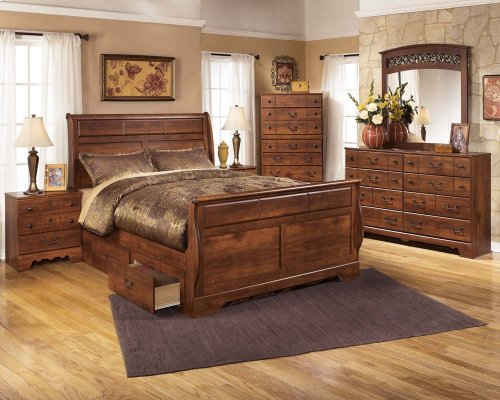 Timberline - Warm Brown 3 Piece Bed Set (Queen)