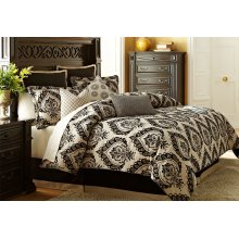 10 pc King Comforter Set Sand