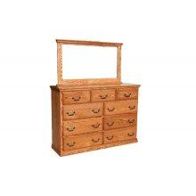 "O-T454 Traditional Oak 1 1/4"" Dresser Mirror"
