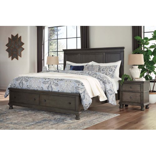 Devensted - Dark Gray 3 Piece Bed Set (King)