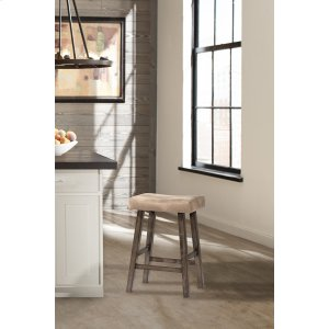Hillsdale FurnitureSaddle Non-swivel Backless Bar Stool - Rustic Gray