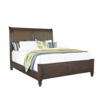 6/6 King Panel Bed - Sable Finish