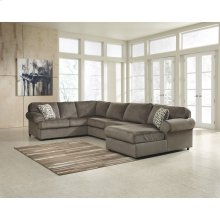 Signature Design by Ashley Jessa Place 3-Piece Left Side Facing Sofa Sectional in Dune Fabric