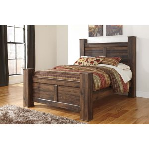 Ashley Furniture Quinden - Dark Brown 4 Piece Bed Set (Queen)