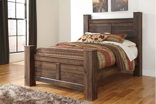 Quinden - Dark Brown 4 Piece Bed Set (Queen)