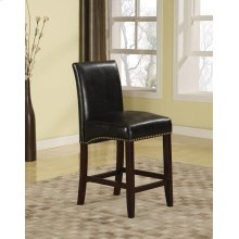 BLACK PU COUNTER HEIGHT CHAIR