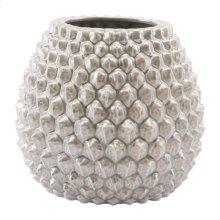 Pinecone Short Vase Antique Silver