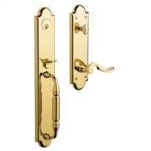 Lifetime Polished Brass Devonshire Handleset
